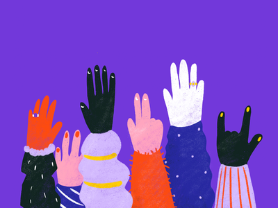 You gotta FIGHT for your RIGHTS! drawing procreate hands activism illustration