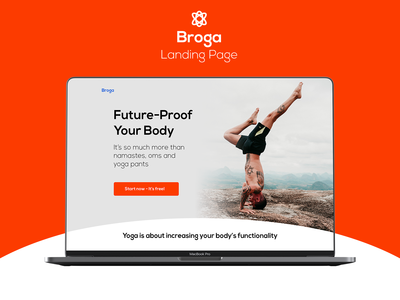 Broga Landing Page