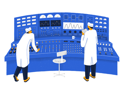 Not Great, Not Terrible dashboard ui dashboard nuclear chernobyl editorial illustration editorial art editorial draw drawing illustration