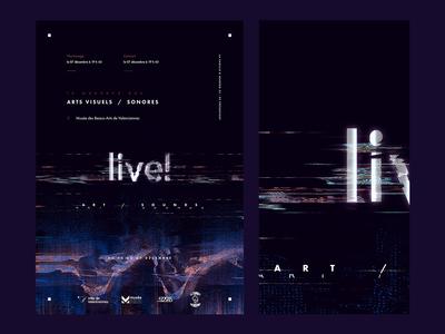 Live! (Exhibition/Concert) poster