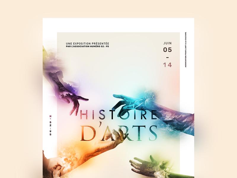 Histoire d'Arts - Exhibition poster french exhibit branding brand poster typography exhibition design exhibition event design