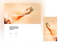 Portfolio, homepage
