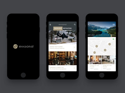 Evasionist design gastronomy architecture lifestyle destination luxury app travel