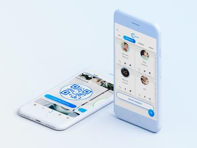 Circle app ui ux social friends messenger chat contact directory