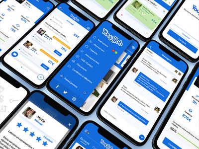 Youpijob service bill location messenger private job