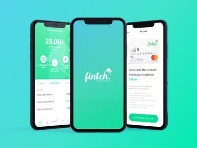 Fintch ux ui app money lending network social neo banking fintech