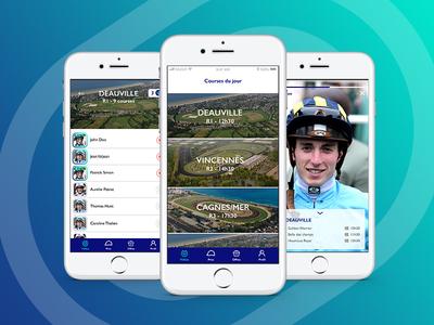 Off Course Turf app sport coach mobile ui ux horse racing