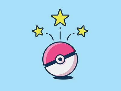Gotcha! Player was caught! pokeball graphic design illustration debut pokemon