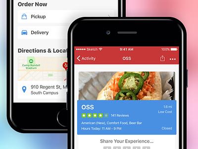 Yelp Redesign visual design app design app mobile design design user experience interface ux ui