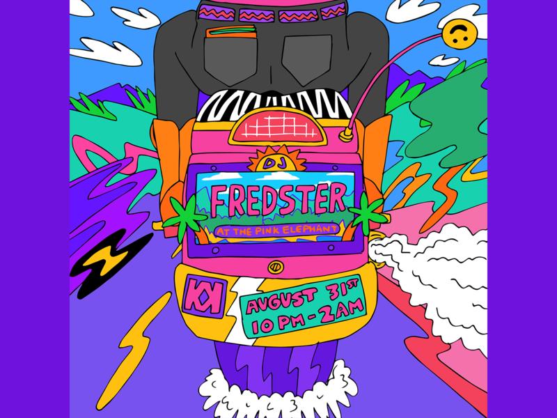 DJ Fredster poster design