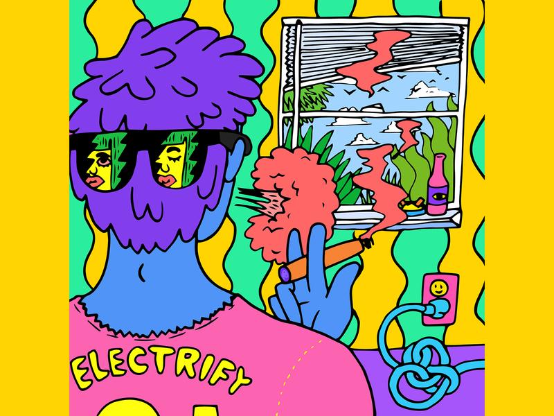 """Electrify"" single artwork for Magic Bronson"
