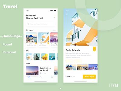 Travel ,please find me app design ux ui