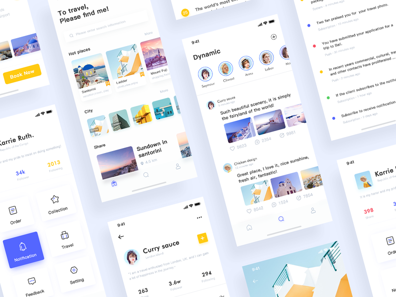 Travel App Collection icon ux ui design app