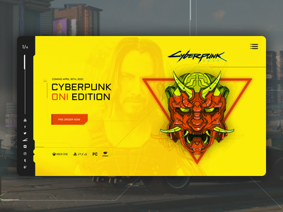 Cyberpunk 2077 oni mask, UI design concept interactivevision intervi mask oni creative webdesign website landing interface drawing draw timelapse cyberpunk2077 cyberpunk graphic procreate illustration character design design ui