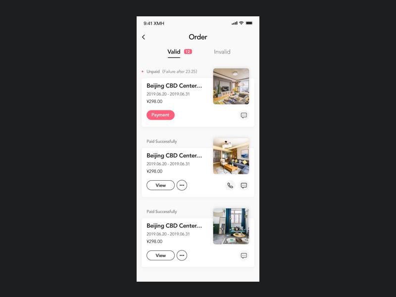Order List app ui