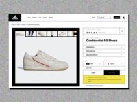 Adidas Online Store Redesign