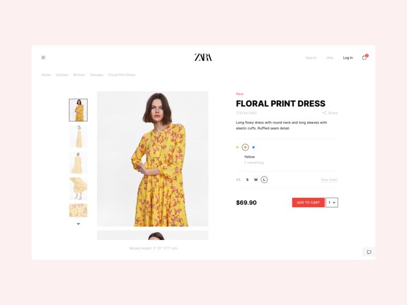Zara Online Store Redesign shop dress online store zara