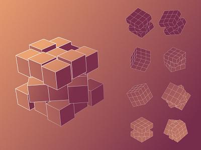 cube graphic design vector illustration
