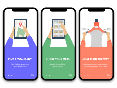 Food Delivery App onboarding
