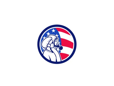 American Healthcare Workers As Heroes Circle Retro