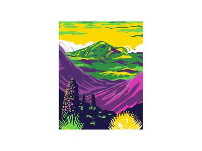 Haleakala National Park and Haleakala Volcano in Maui Hawaii Uni national monument preserves national reserve national park landscape natural nature wilderness area mountain ahinahina volcano dormant volcano wpa