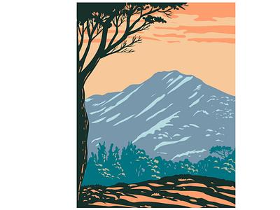 The Peak of Mount Tamalpais in Mount Tam State Park WPA scenery