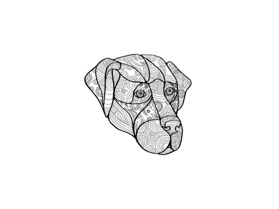 Labrador Retriever Mandala geometric senior dog pet head retriever-gun dog lab dog retriever labrador mandala