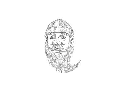 Paul Bunyan Lumberjack Doodle Art
