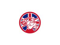 British Cable Installer Union Jack Flag Icon