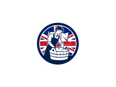 British Laundry Union Jack Flag Icon