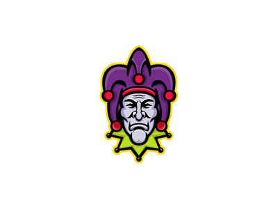 Jester Head Mascot