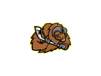 Musk Ox Ice Hockey Mascot