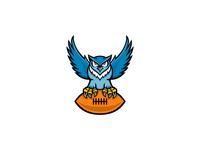 Great Horned Owl American Football Mascot