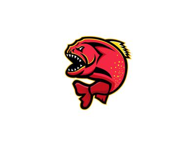 Piranha Sports Mascot