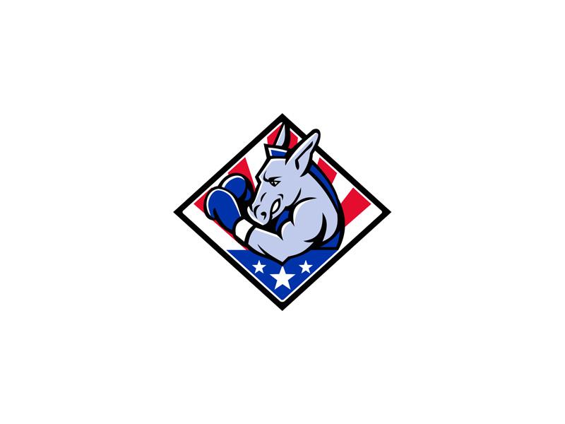 American Donkey Boxer USA Mascot by Aloysius Patrimonio on Dribbble
