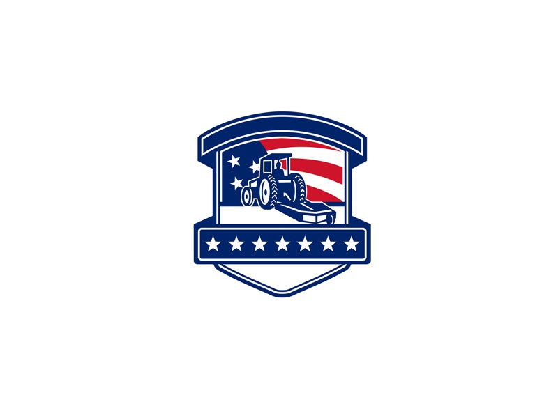 Brush Hogging Services USA Flag Badge by Aloysius Patrimonio