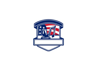 Excavation Services USA Flag Badge