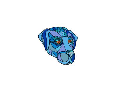 Labrador Dog Head Side Mosaic