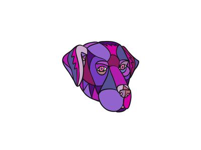 Labrador Retriever Dog Head Mosaic Color