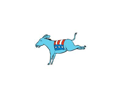 American Donkey Kicking Color Drawing