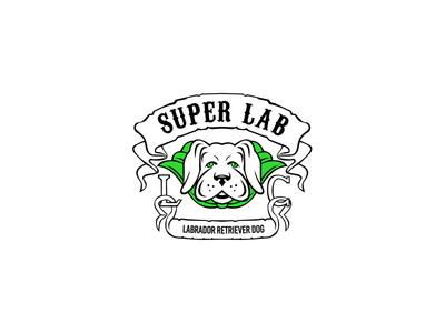 Super Labrador Retriever Dog Wearing Green Cape