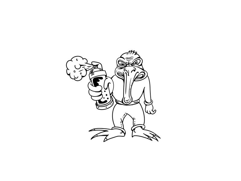 Kiwi Bird Graffiti Artist Cartoon By Aloysius Patrimonio Dribbble