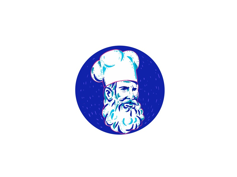 be68b97a Angry Bearded Chef Circle Doodle by Aloysius Patrimonio on Dribbble