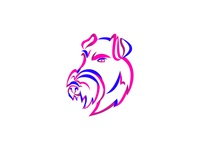 Manchester Terrier Ribbon Art