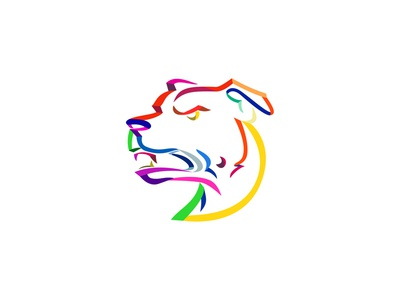 American Staffordshire Terrier Ribbon Art