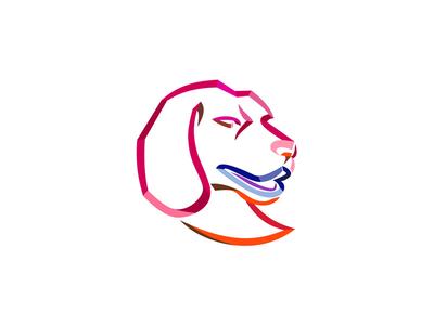 Beagle Head Ribbon Art