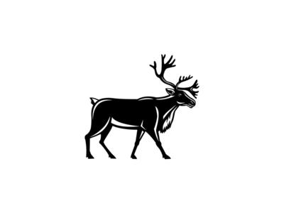 Caribou Walking Side Retro