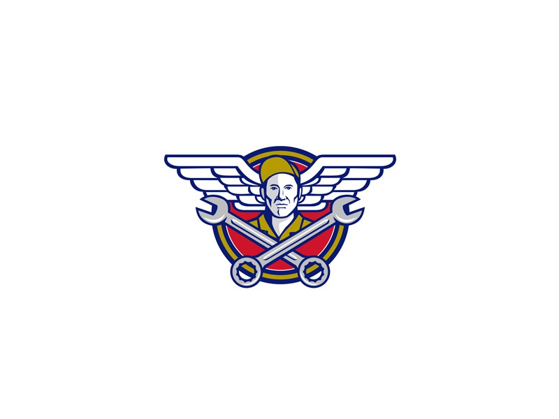 Crew Chief Crossed Wrench Army Wings Icon crossed spanner noncommissioned officer ground crew air force aircraft mechanic mechanic military pilot soldier army air force wings wing army wings aviator wrench crossed spanner crew chief retro icon