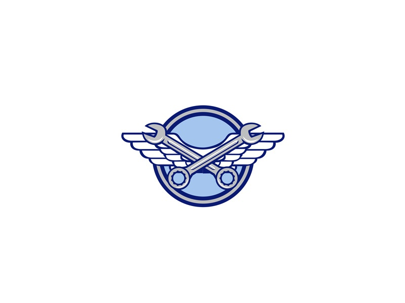 Crossed Spanner Air Force Wings Icon crossed spanner noncommissioned officer ground crew air force mechanic military pilot soldier army air force wings wing army wings aviator wrench crew chief aircraft mechanic crossed spanner retro icon