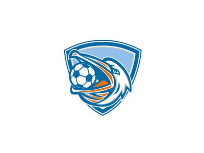 Pelican Soccer Ball In Mouth Shield Retro